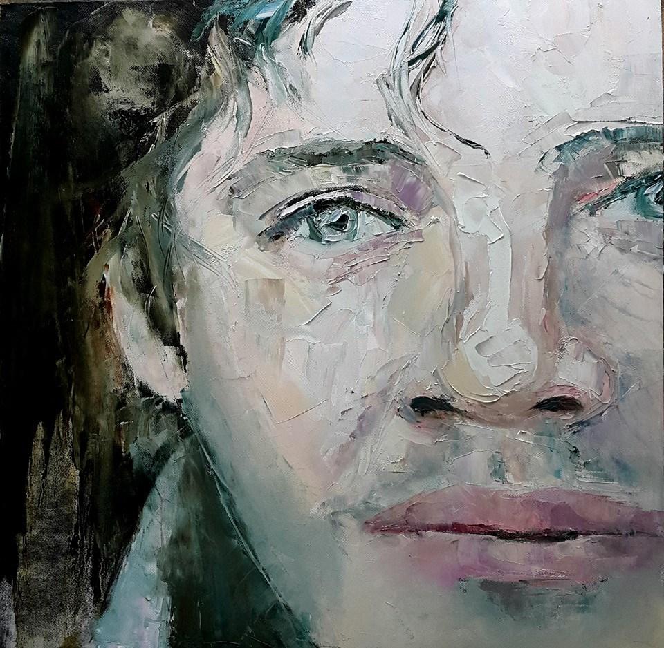 """""""Handsome"""" original fine art by Rentia Coetzee"""