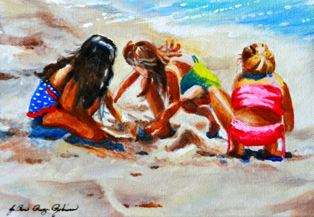 """Team Work"" original fine art by JoAnne Perez Robinson"