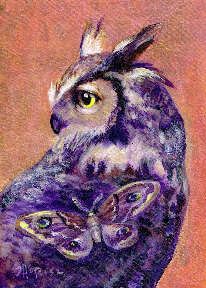 """""""Owl Be There"""" original fine art by Theresa Taylor Bayer"""