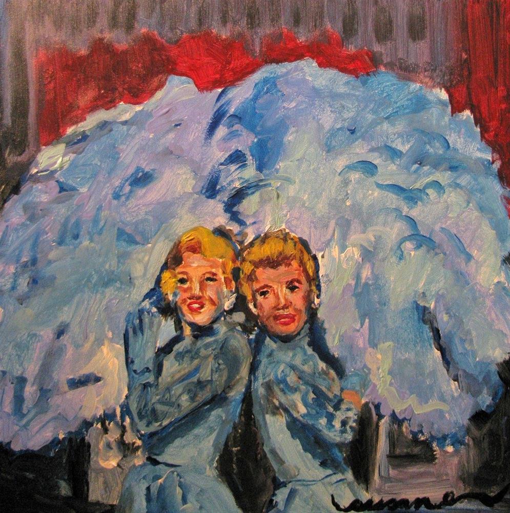 """""""Sisters Sisters"""" original fine art by Susan Elizabeth Jones"""