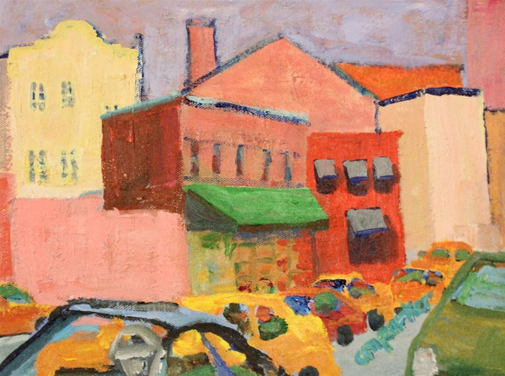 """Village"" original fine art by Christine Parker"