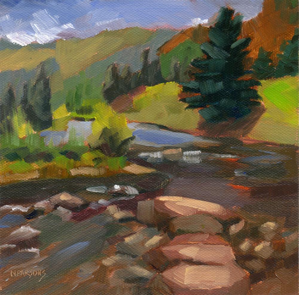 """No Rock For A Stepper"" original fine art by Nancy Parsons"