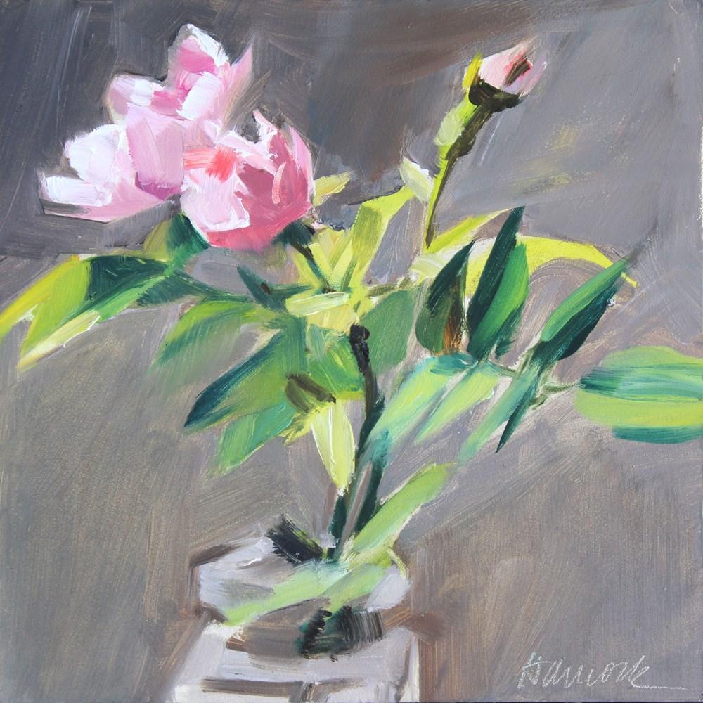"""Two Roses One Rosebud"" original fine art by Gretchen Hancock"