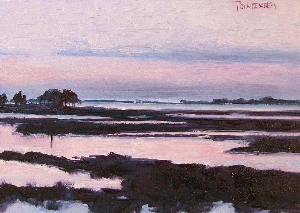 """Sunset on the Bay"" original fine art by Dianna Poindexter"