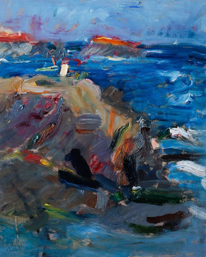 """Afternoon Light Seascape"" original fine art by Anna Fine Art"