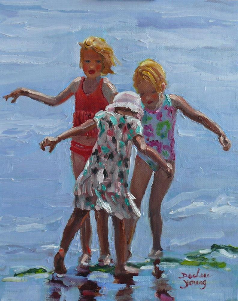 """854 Water Fairies, 8x10, oil on board"" original fine art by Darlene Young"