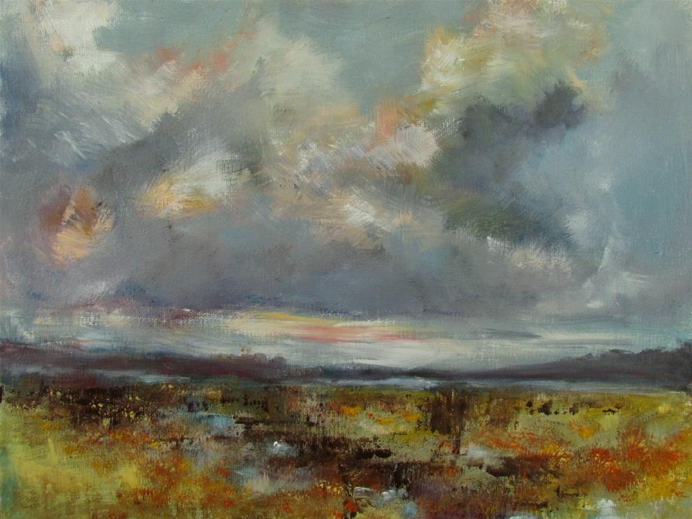 """Marsh Sky"" original fine art by Aurelio Saiz"