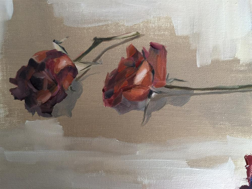 """292 Dried Long Stems"" original fine art by Jenny Doh"