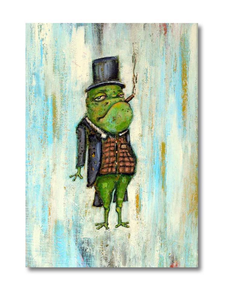 """""""Froggie"""" original fine art by Matthew Hilbish"""
