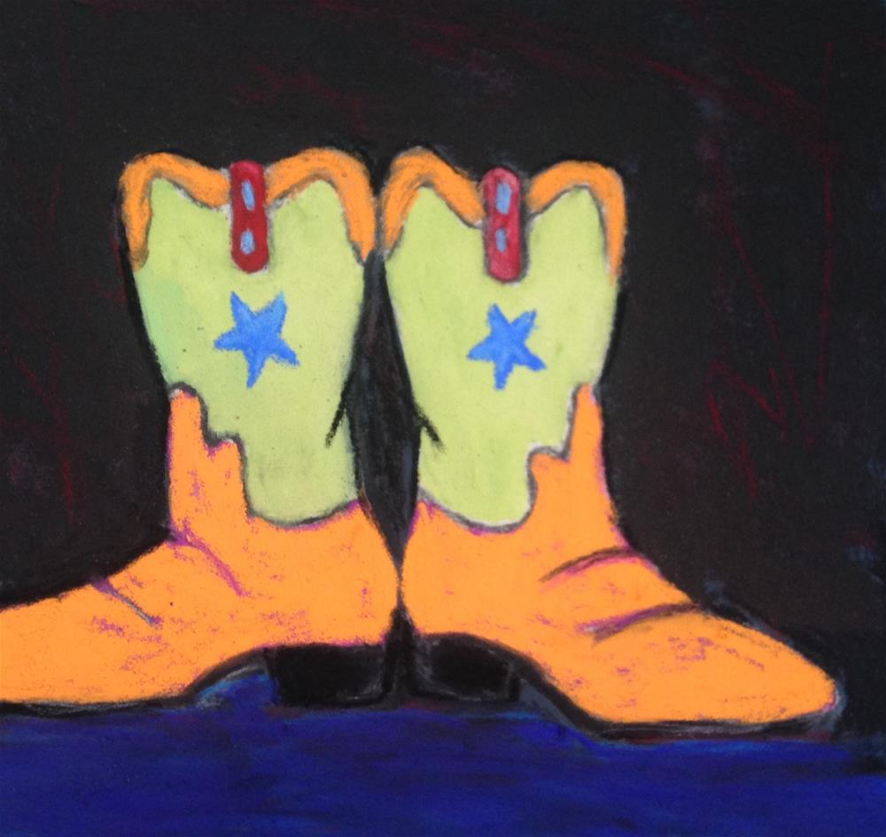 """""""Cowboy Boots"""" original fine art by Angeli Petrocco Coover"""