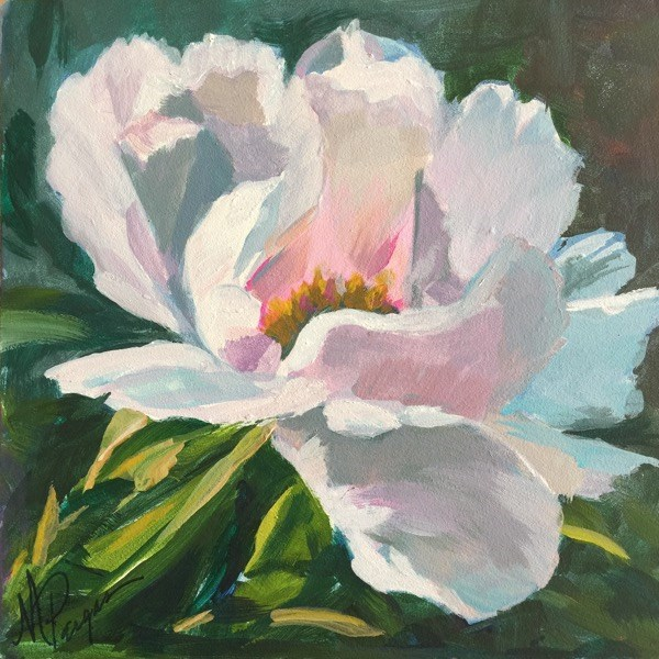 """Peony for Mom"" original fine art by Mary Pargas"