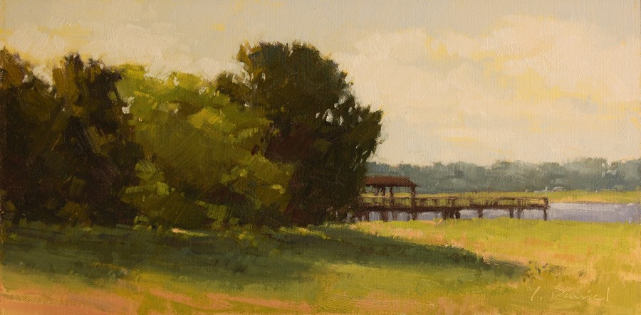 """River Dock"" original fine art by Laurel Daniel"