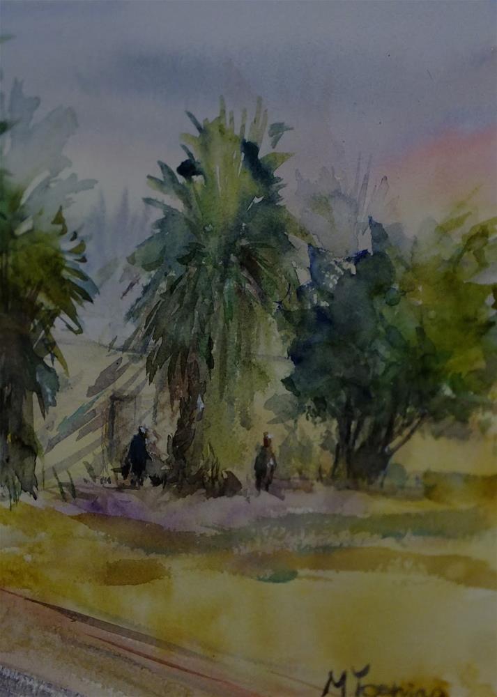 """""""Al Jimi at 7:15 am, Al Ain."""" original fine art by Midori Yoshino"""