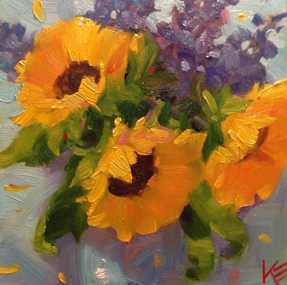 """Sunshine delight"" original fine art by Krista Eaton"