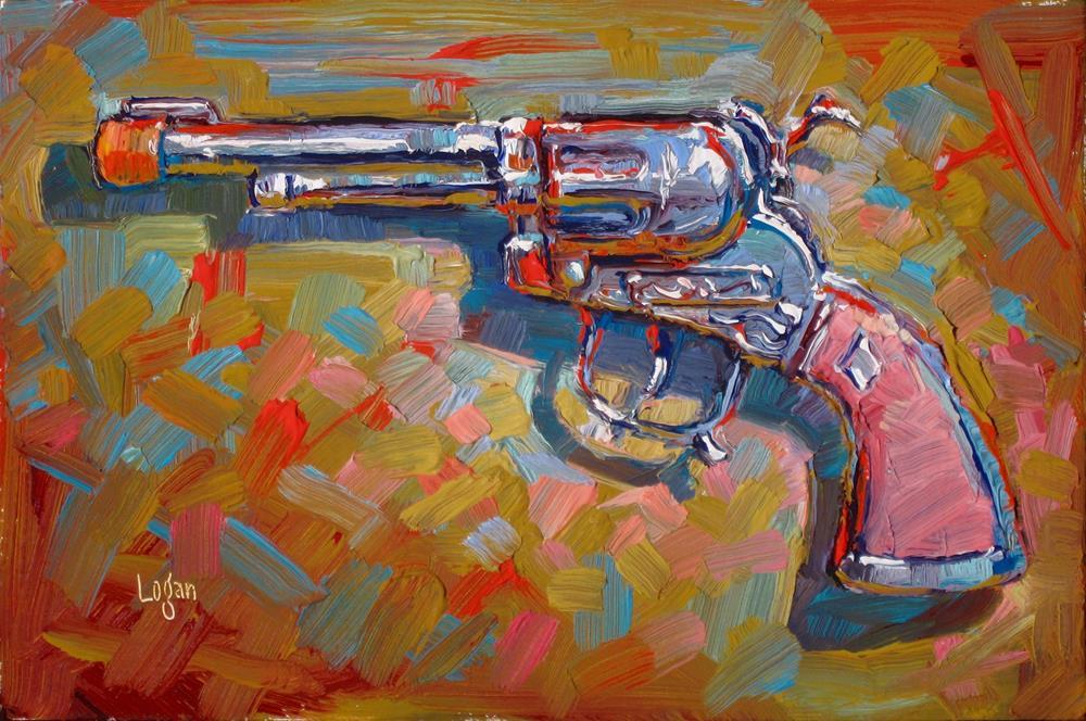 """""""Pink Handled Cap Gun"""" original fine art by Raymond Logan"""