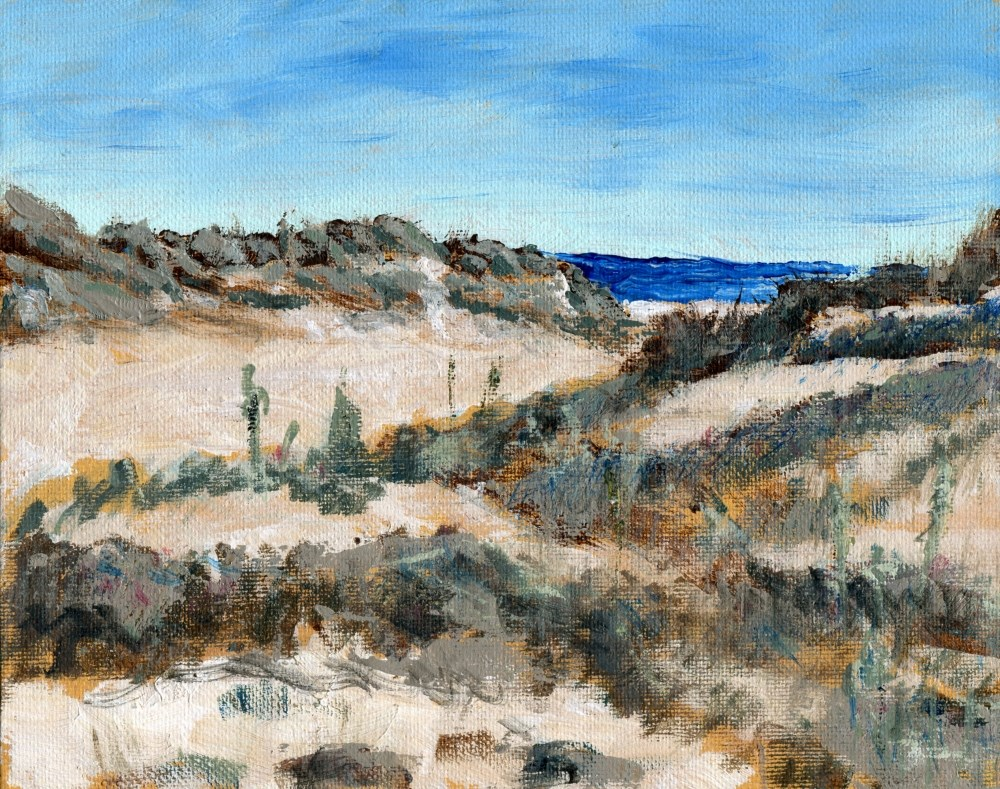 """""""Sand Dunes and Grass"""" original fine art by Stanley Epperson"""