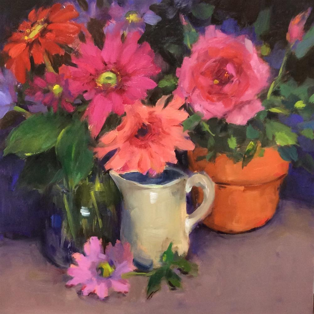 """Color Bouquet"" original fine art by Laurie Johnson Lepkowska"