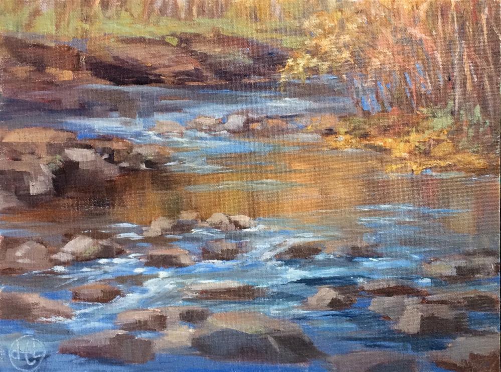 """""""sugar creek"""" original fine art by Dottie  T  Leatherwood"""