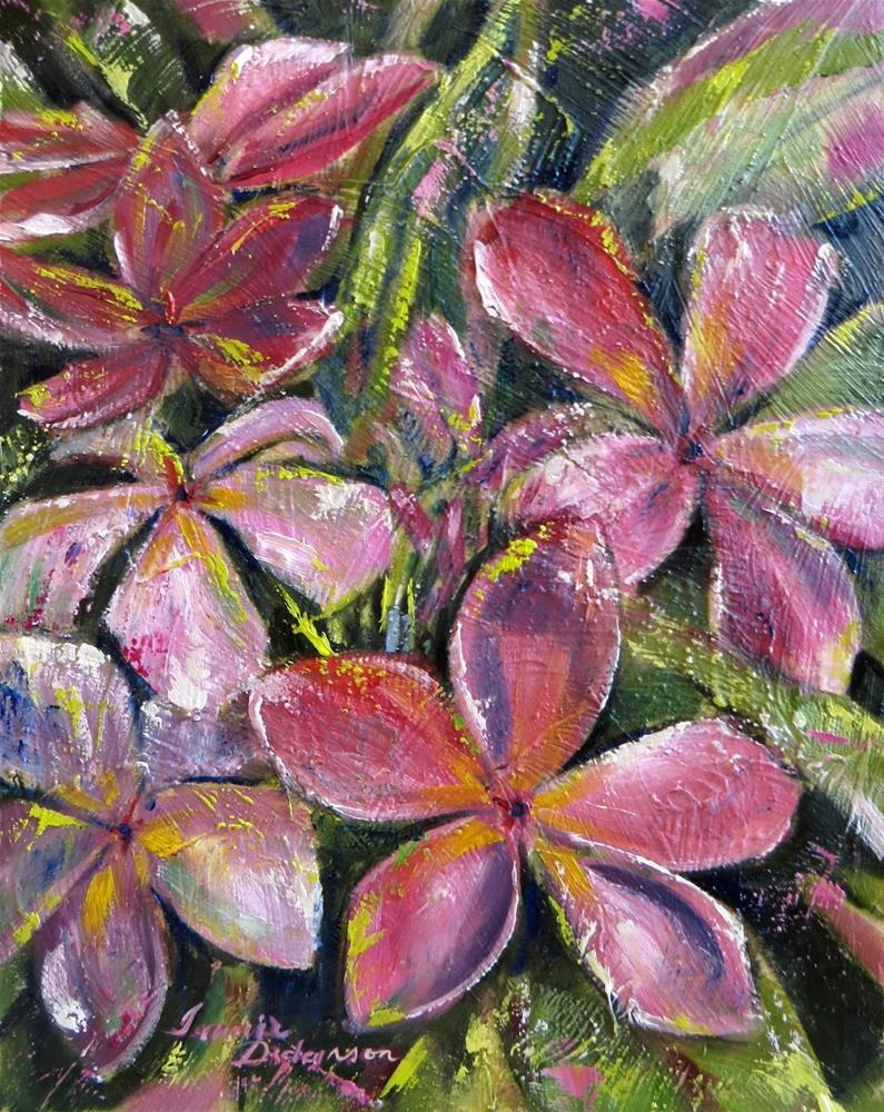 """""""Tropical Blooms"""" original fine art by Tammie Dickerson"""