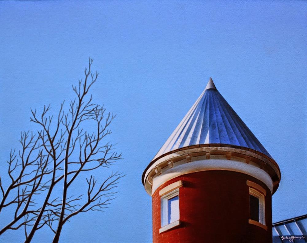 """House on East Capital Street (Third Floor)"" original fine art by Fred Schollmeyer"