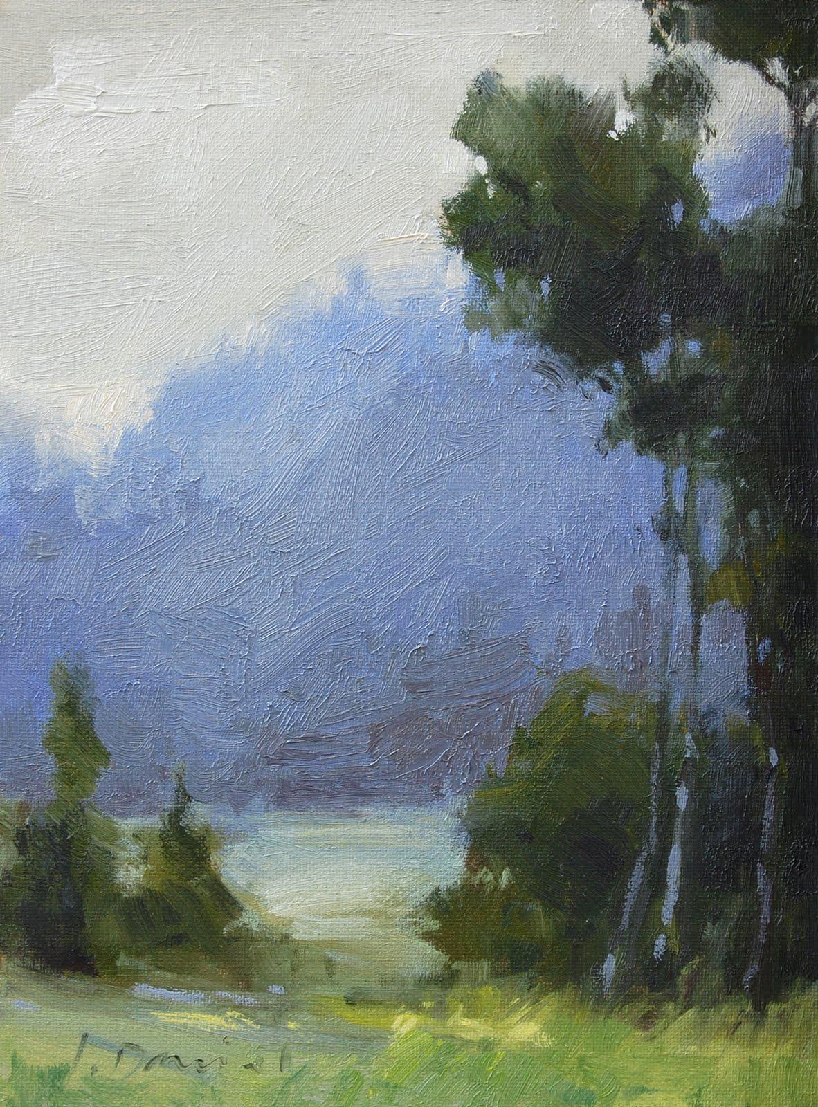 """Cool Mist"" original fine art by Laurel Daniel"