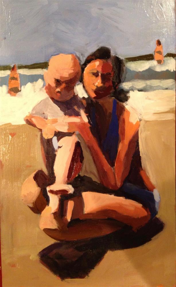 """Big Fat Ocean Baby"" original fine art by Pamela Hoffmeister"