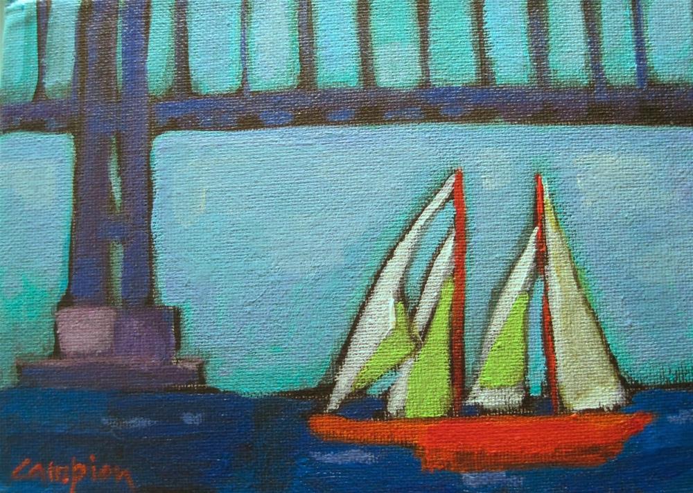 """""""225 Under the Golden Gate"""" original fine art by Diane Campion"""
