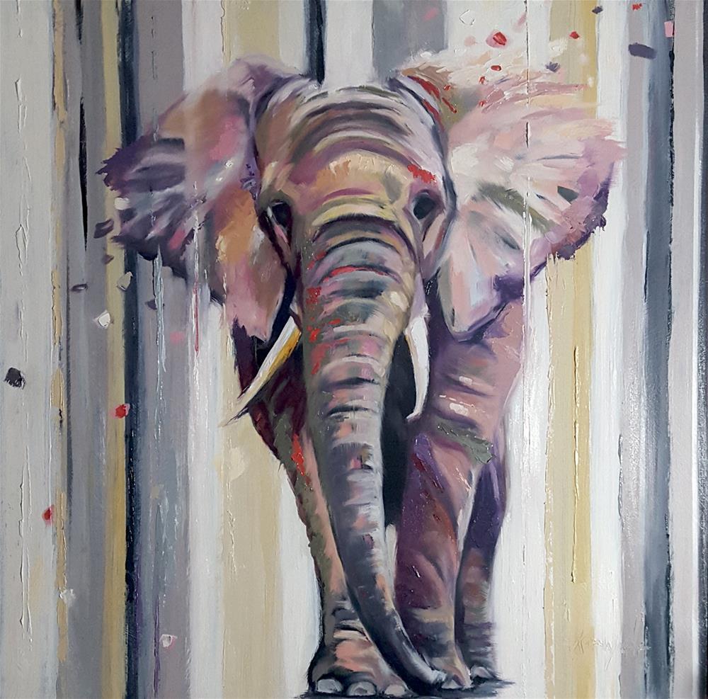 """""""Where Elephants Walk"""" original fine art by Karen Weber"""
