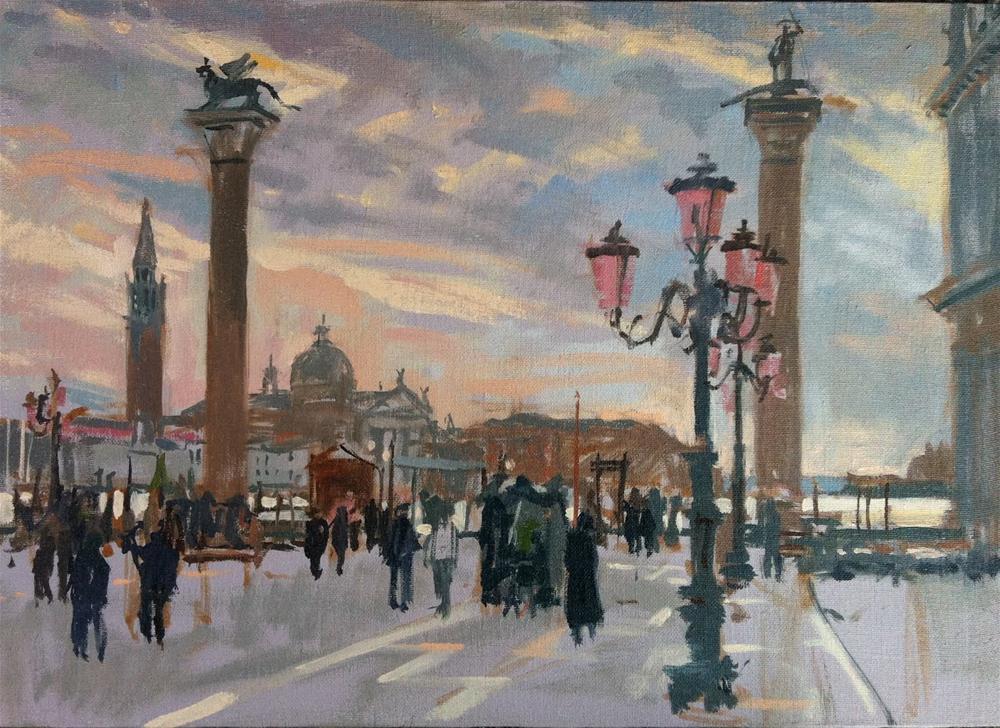 """Piazzetta, Venice"" original fine art by Haidee-Jo Summers ROI"