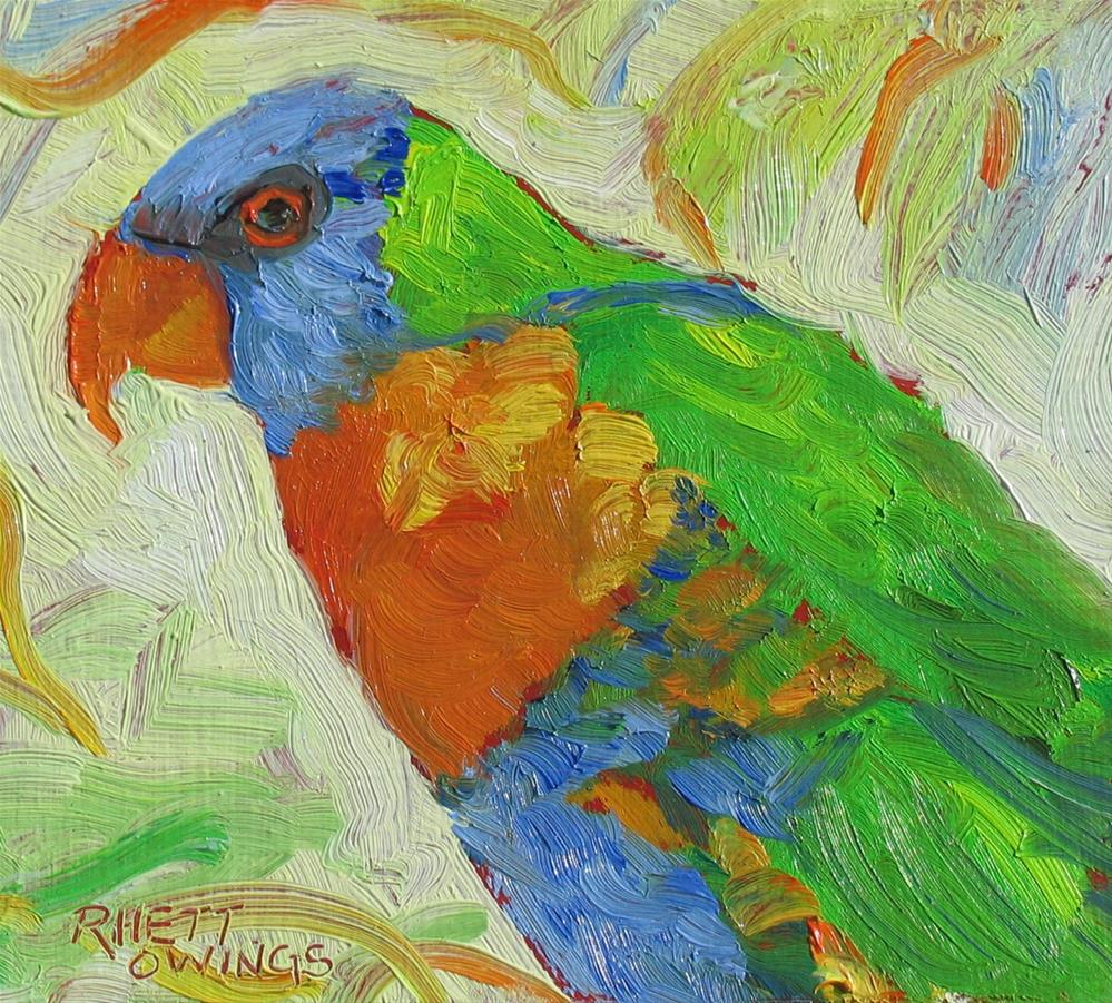 """Rainbow Lorikeet"" original fine art by Rhett Regina Owings"