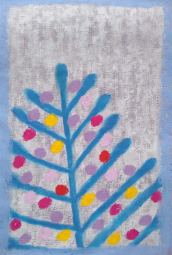 """""""Blue Tree in My Dream"""" original fine art by Adéla Svobodová"""