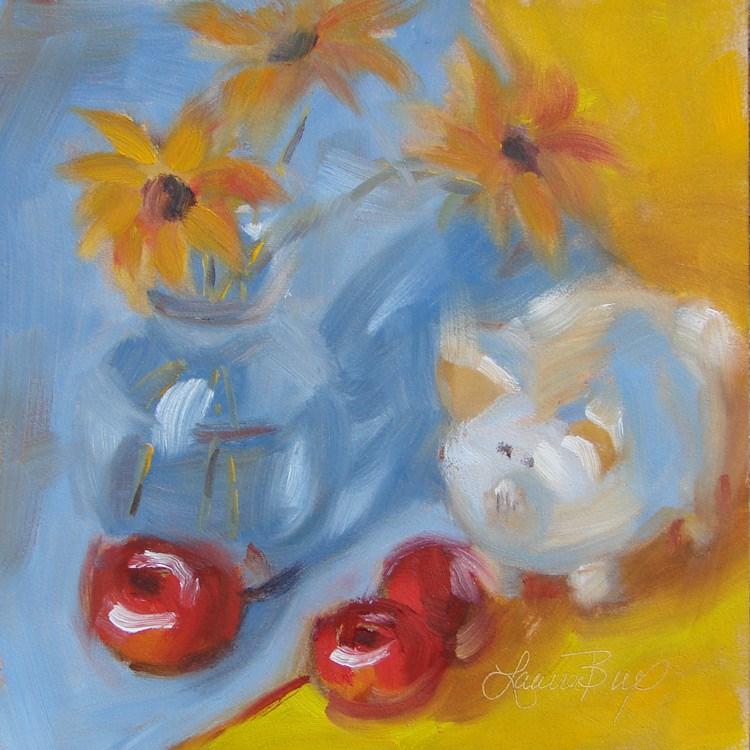"""Delightful Studio Pals - 403"" original fine art by Laura  Buxo"