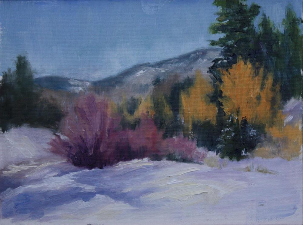 """Winter's Color"" original fine art by Sheila Marie"