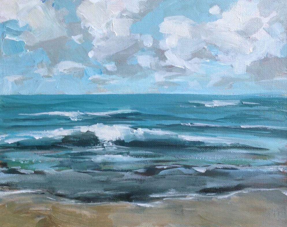 """""""Pleasant Sea"""" original fine art by Shannon Bauer"""