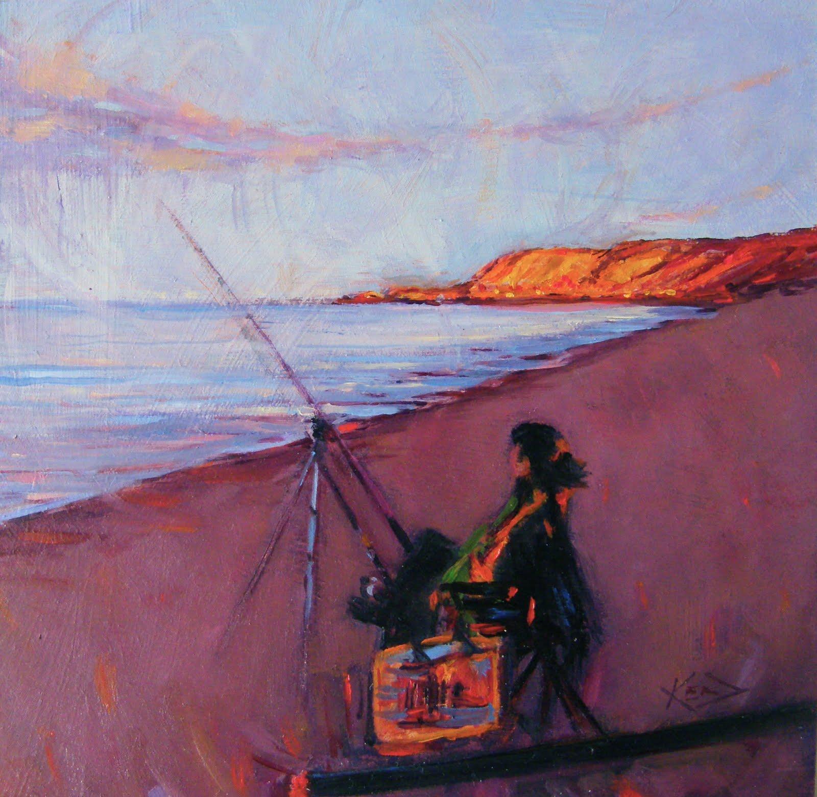 """""""Dorne at Dusk"""" original fine art by Ken Devine"""