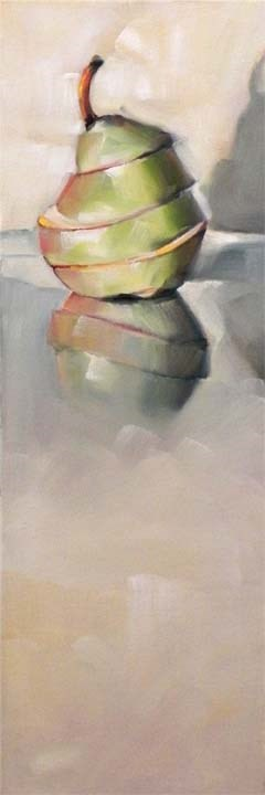 """Sliced Pear"" original fine art by Cheryl Wilson"