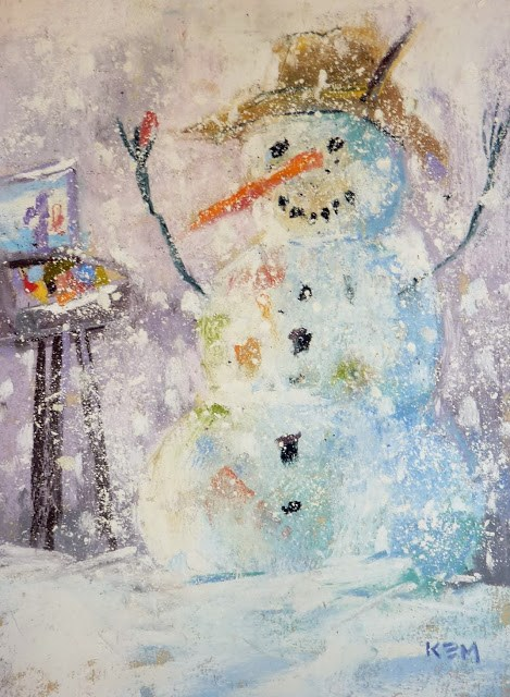 """How to Paint Snowflakes...Making Pastel Snow"" original fine art by Karen Margulis"
