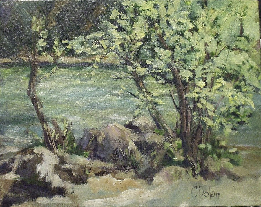 """""""Late Summer On The Rogue River"""" original fine art by Cheryl Williams Dolan"""