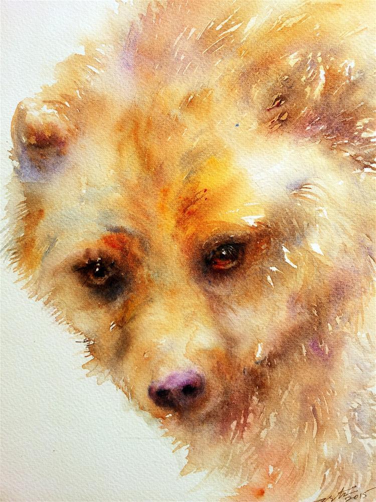 """""""Golden Bear"""" original fine art by Arti Chauhan"""