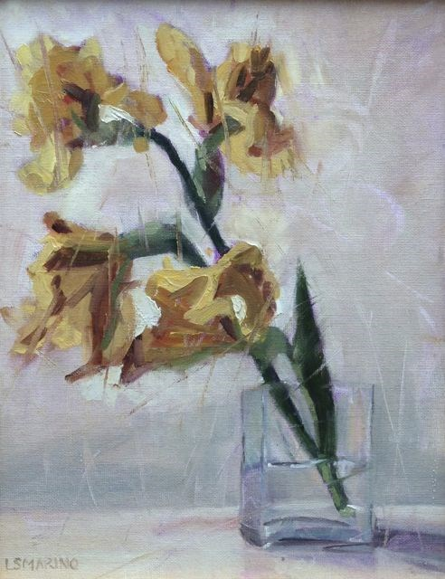 """Ginger Iris"" original fine art by Linda Marino"