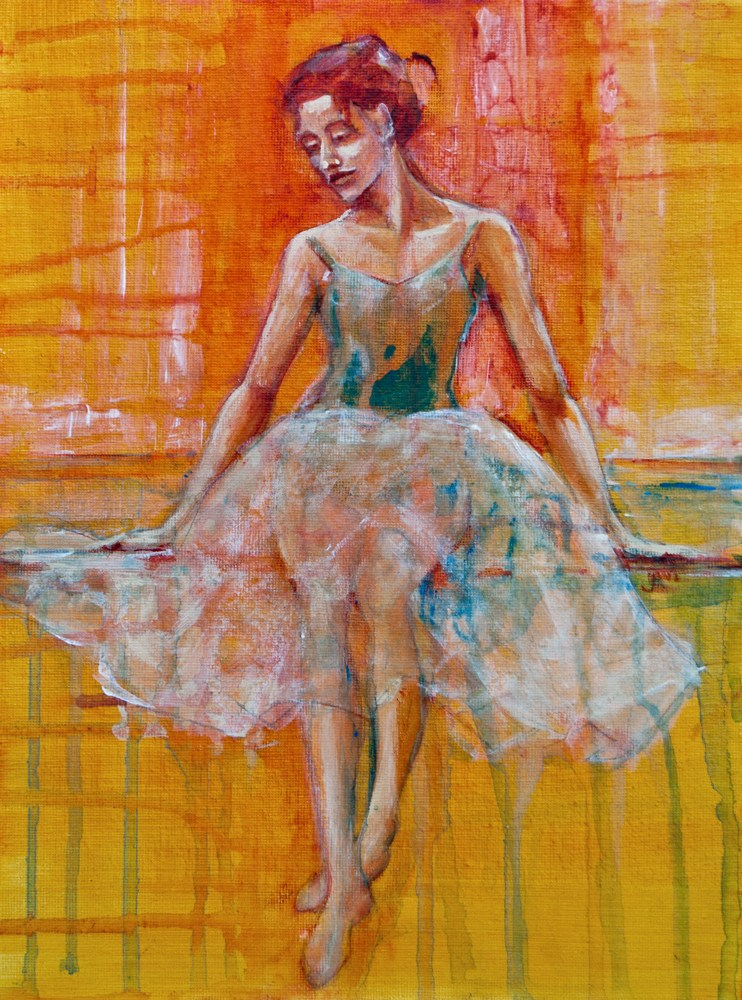 """Ballerina In Repose"" original fine art by Jani Freimann"