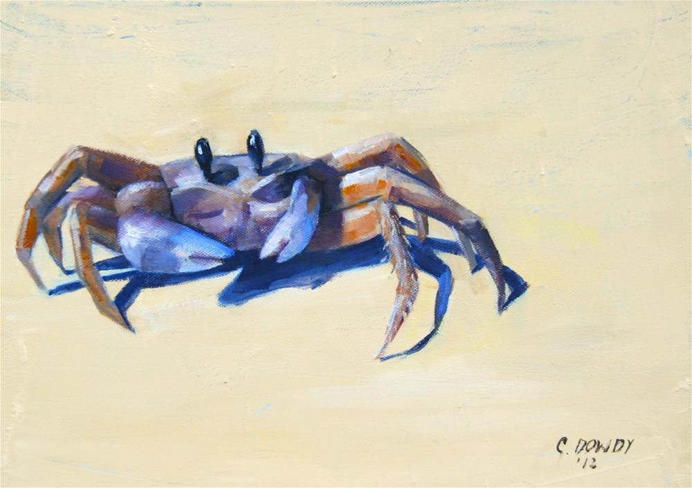 """Surprised Crab"" original fine art by Christina Dowdy"