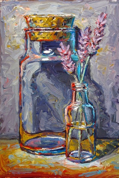 """Cork and Lavender"" original fine art by Raymond Logan"