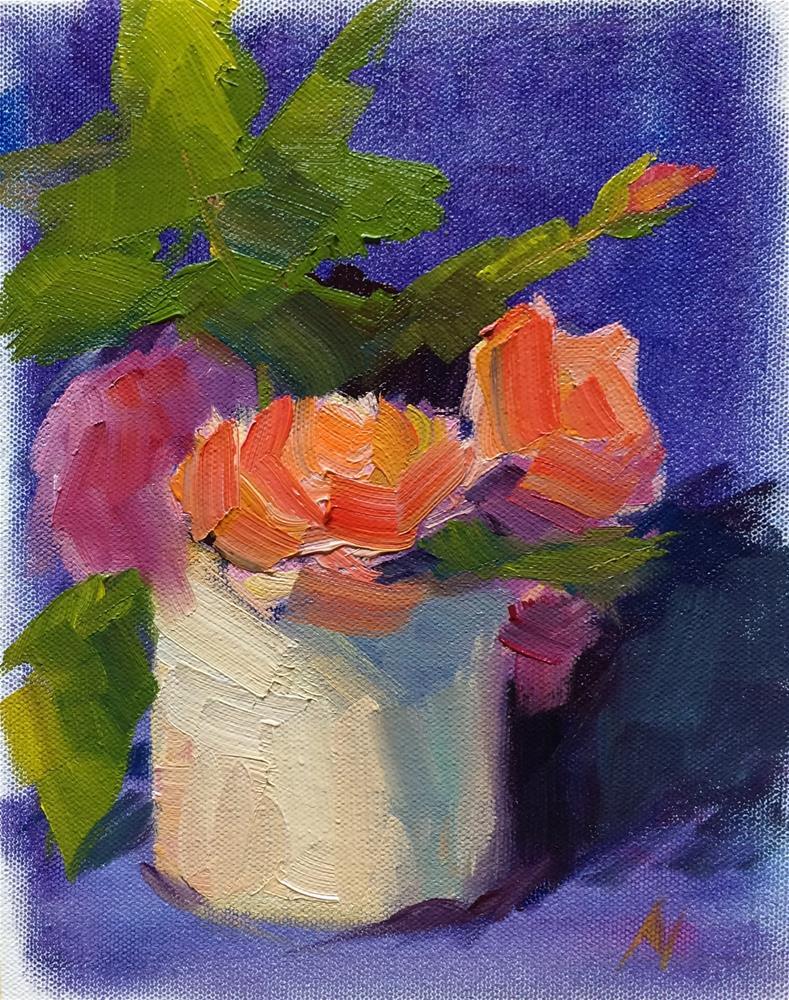 """Roses"" original fine art by Naomi Bautista"