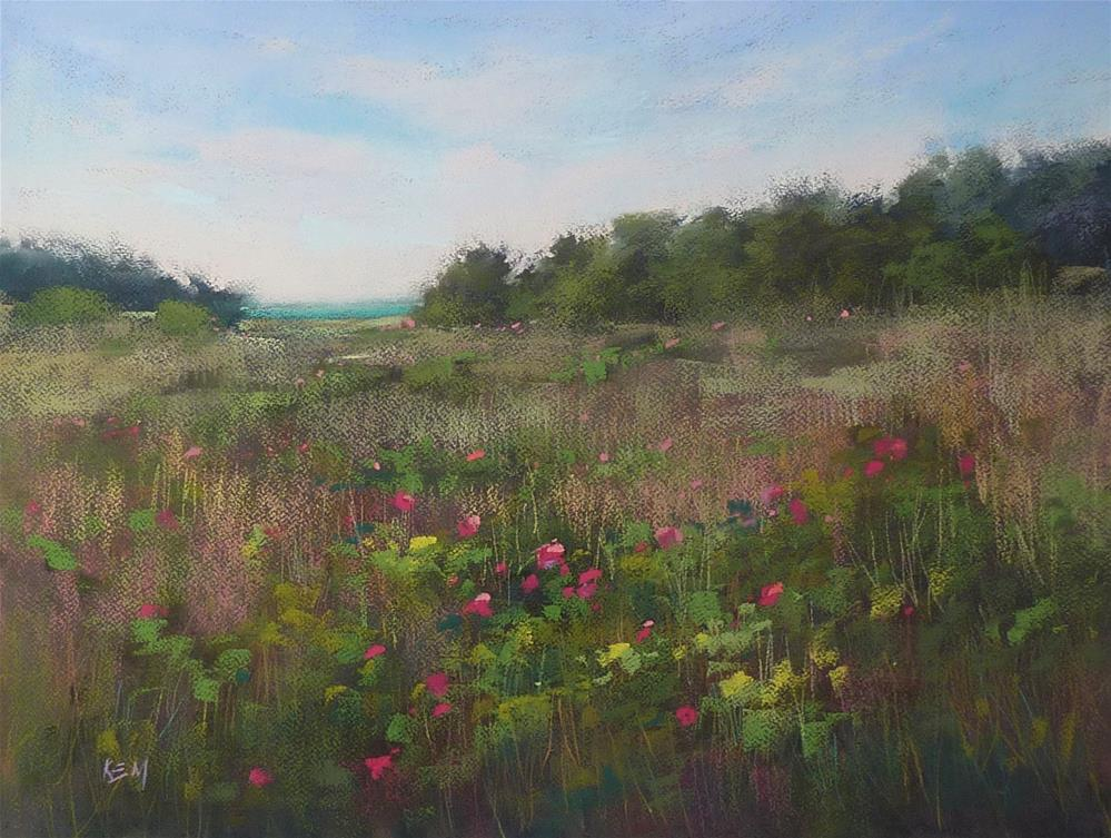 """""""Planning and Executing a Wildflower Painting"""" original fine art by Karen Margulis"""