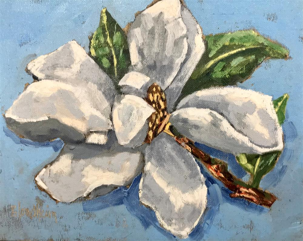 """Magnolia Blossom"" original fine art by Linda Blondheim"