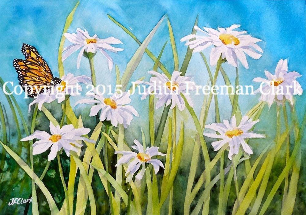 """Summer Garden"" original fine art by Judith Freeman Clark"