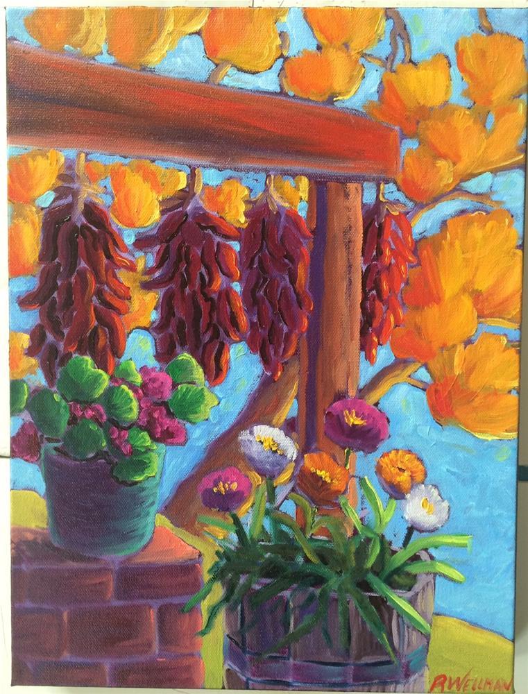 """""""Ristras"""" original fine art by Robyn Wellman"""