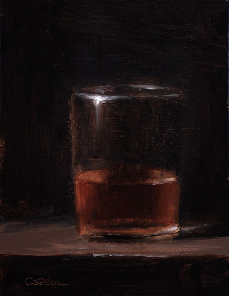"""Glass of Whiskey - study"" original fine art by Neil Carroll"