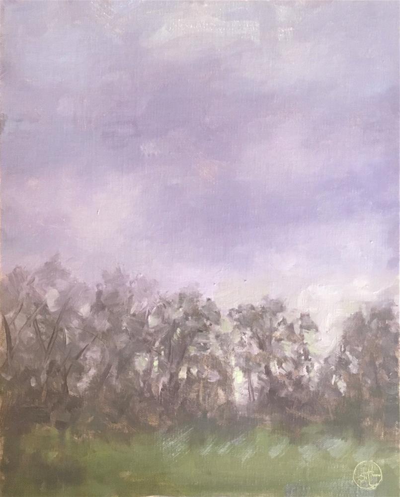 """""""western sky at daybreak"""" original fine art by Dottie  T  Leatherwood"""